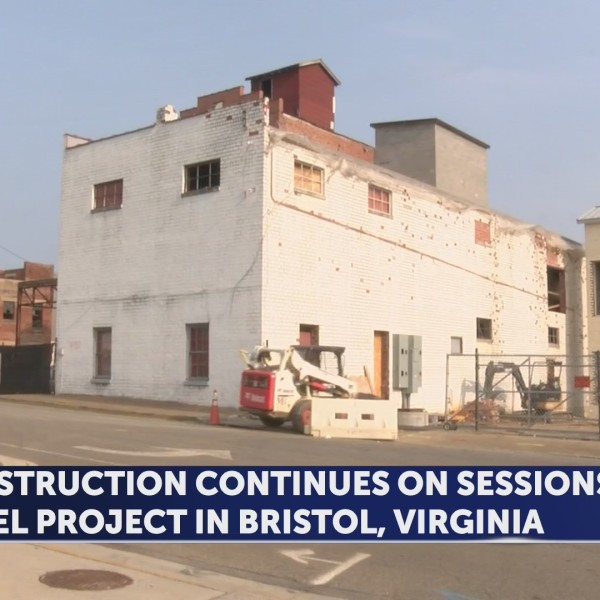 Construction continuing for Sessions Hotel in Bristol