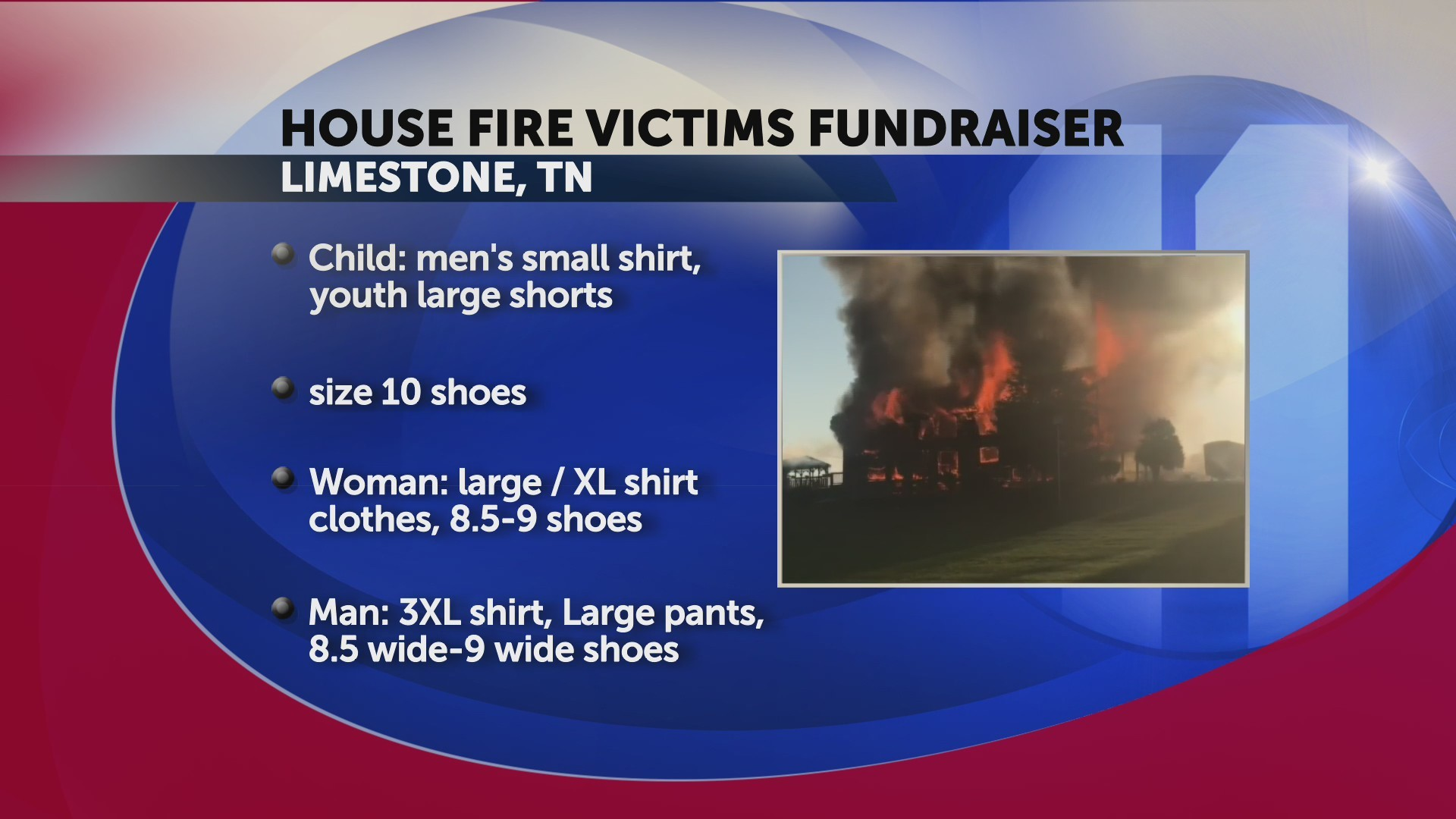 Local elementary school asking for donations for victims of Limestone house fire