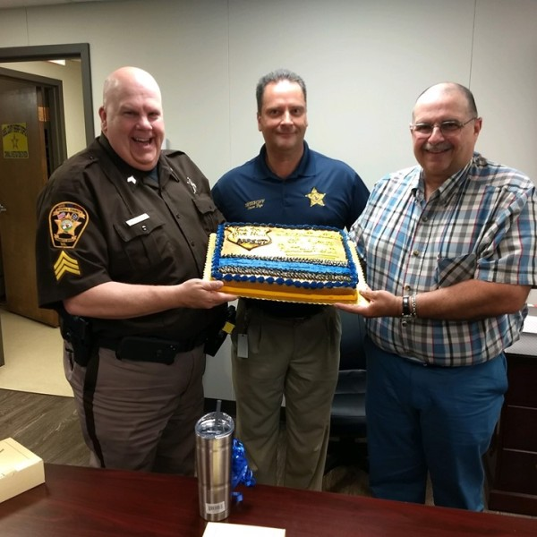 Russell County officers recognized for their service.
