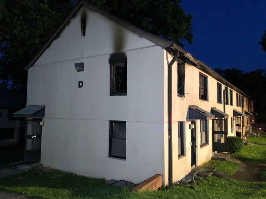 No injuries reported following early morning apartment fire