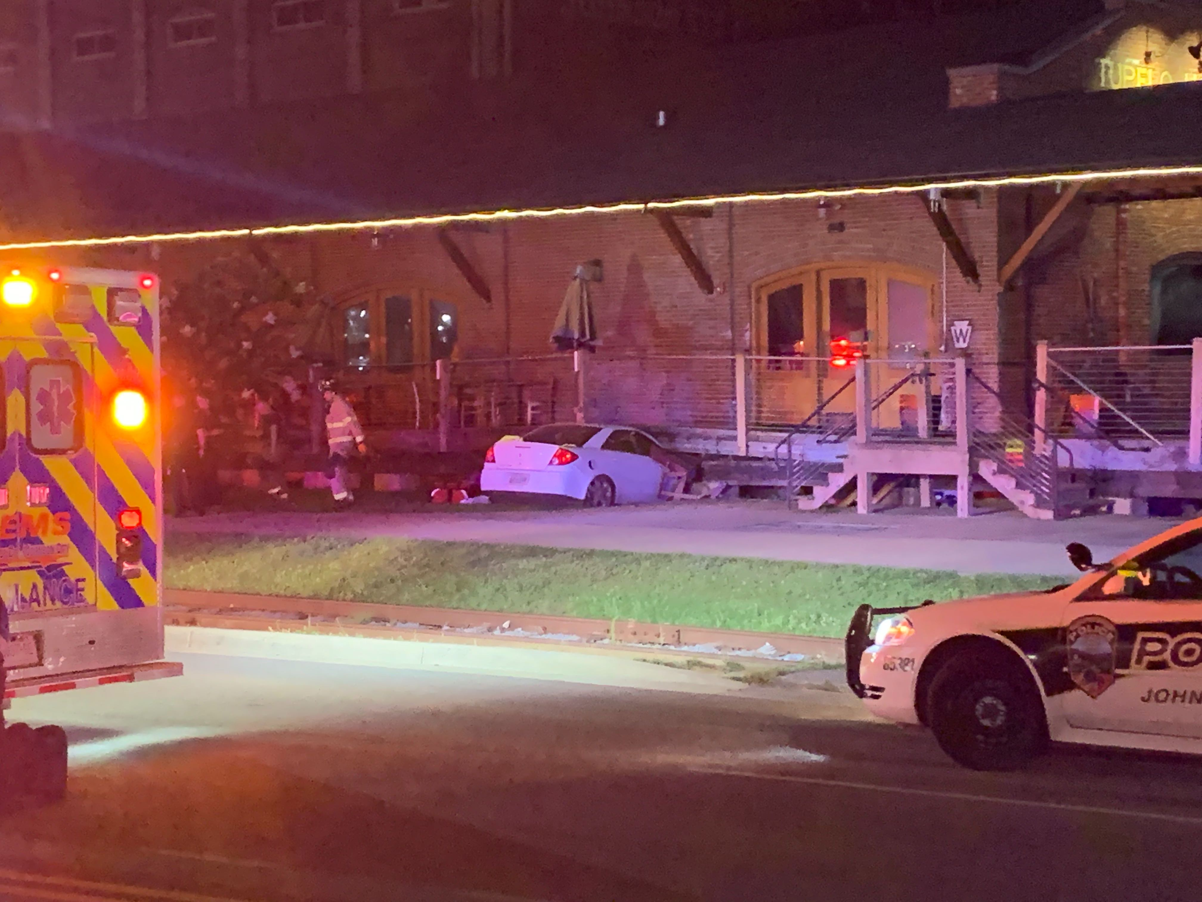 Car crashes into old Tupelo Honey building in Johnson City