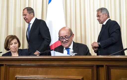 Sergey Lavrov, Sergei Shoigu, Jean-Yves le Drian, Florence Parly