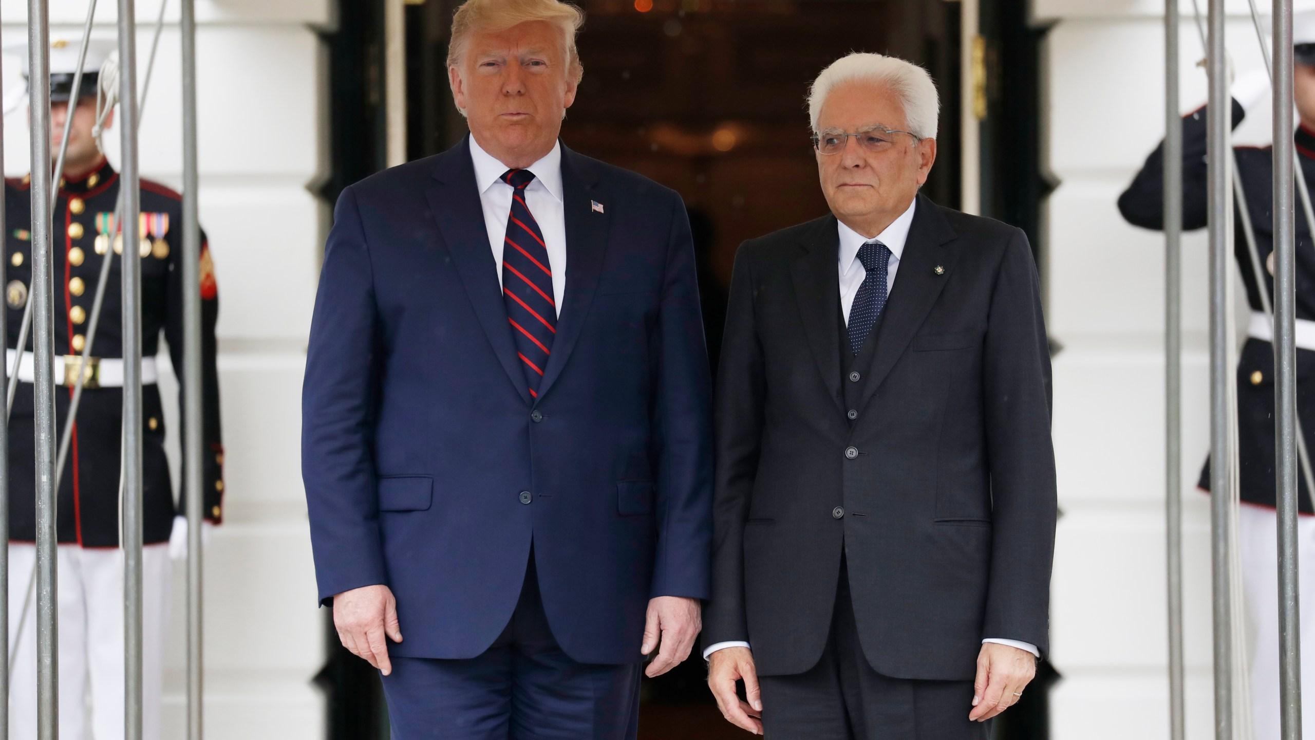 Donald Trump Sergio Mattarella