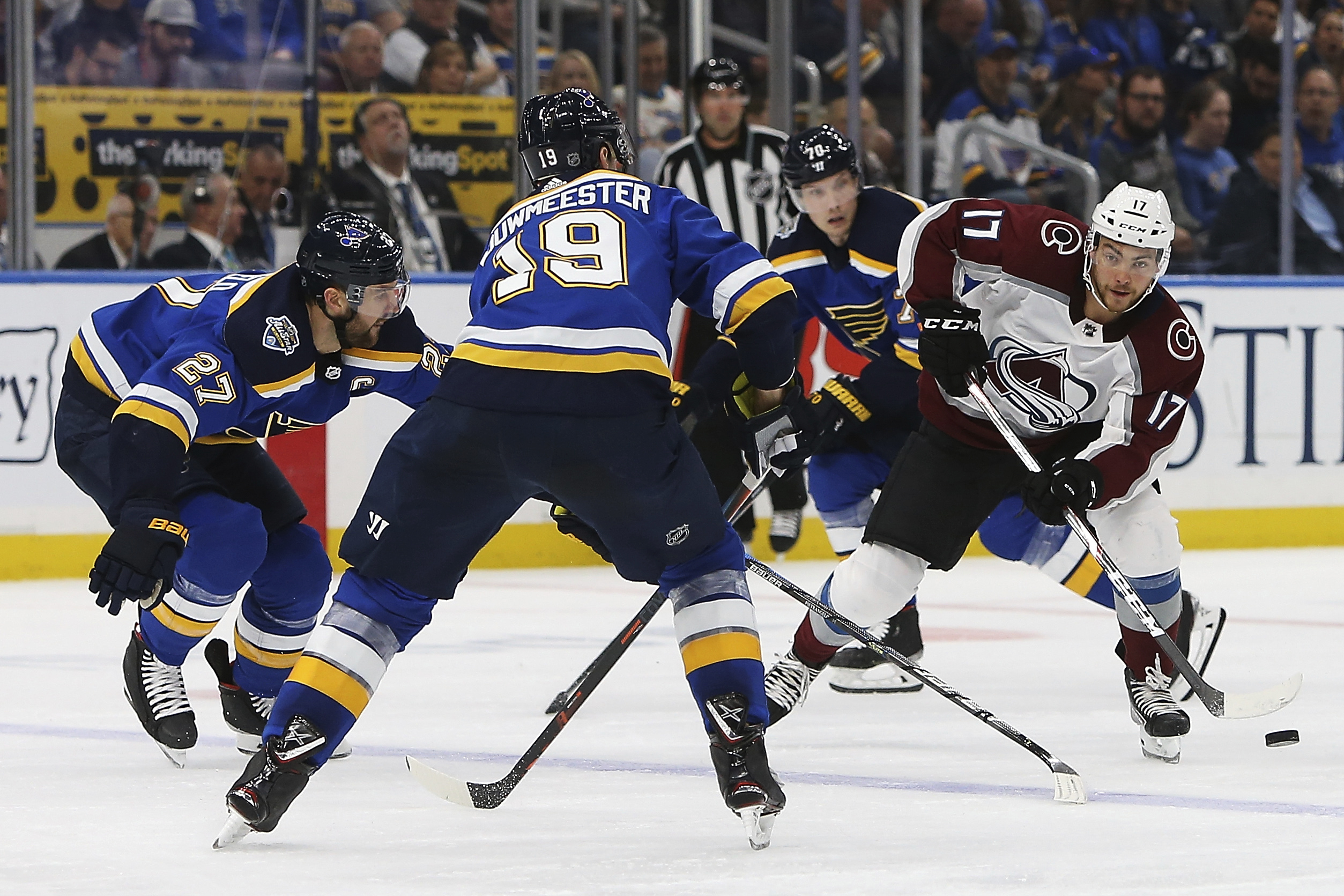 Tarasenko Has Goal 2 Assists As Blues Beat Avalanche 3 1 Wjhl Tri Cities News Weather