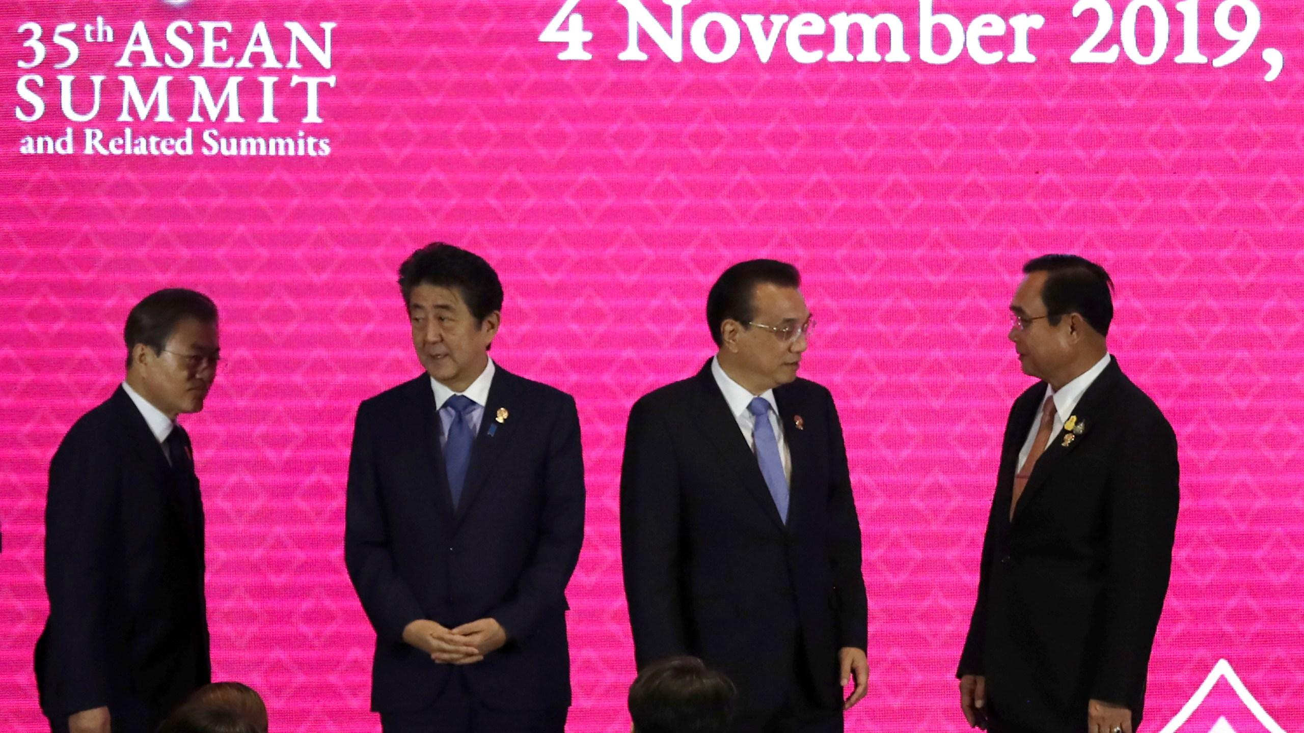 Moon Jae-in, Shinzo Abe, Li Keqiang, Prayuth Chan-ocha