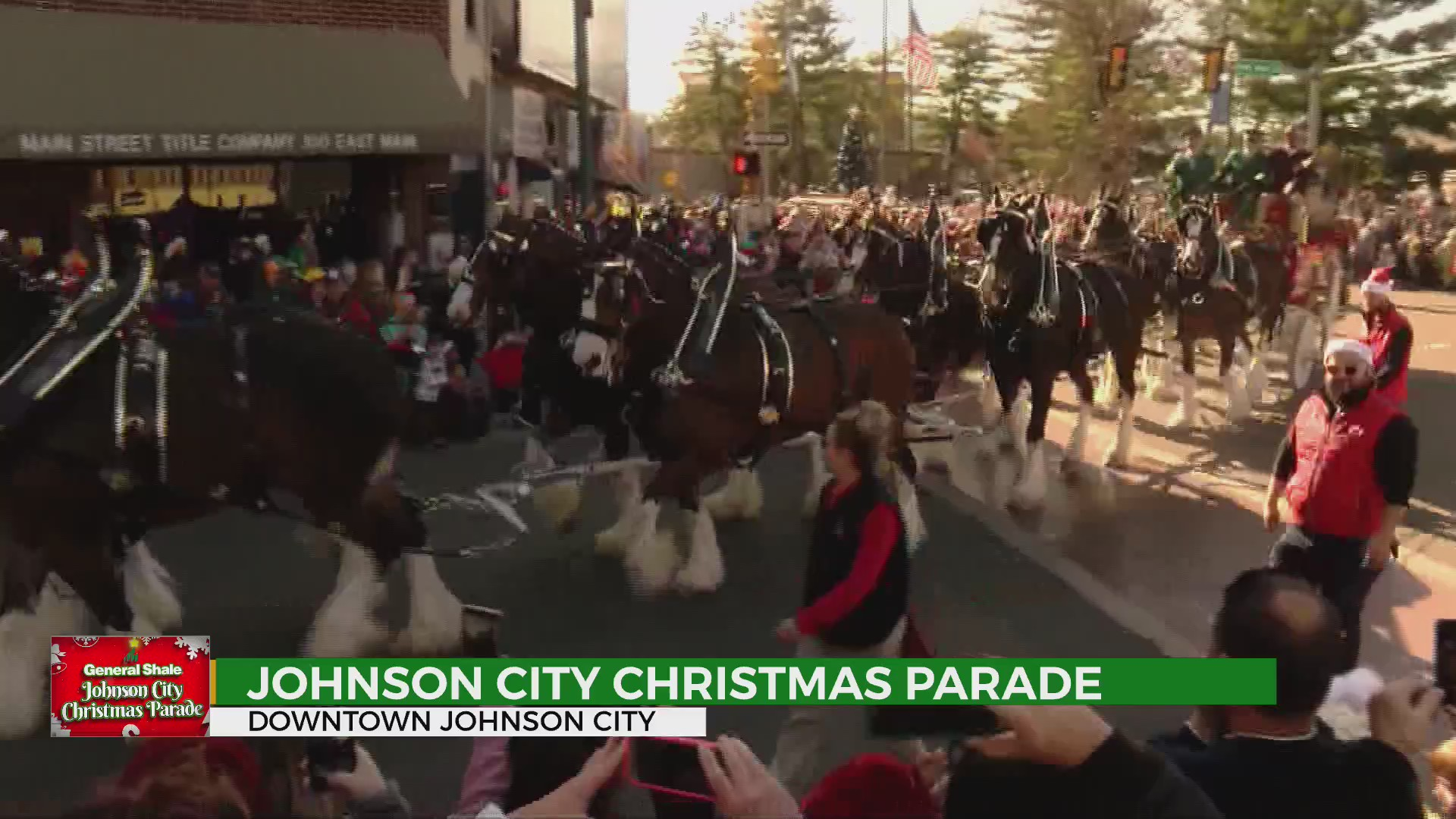 Johnson City Tn Christmas Parade 2020 WATCH: Johnson City Christmas Parade & Budweiser Clydesdales