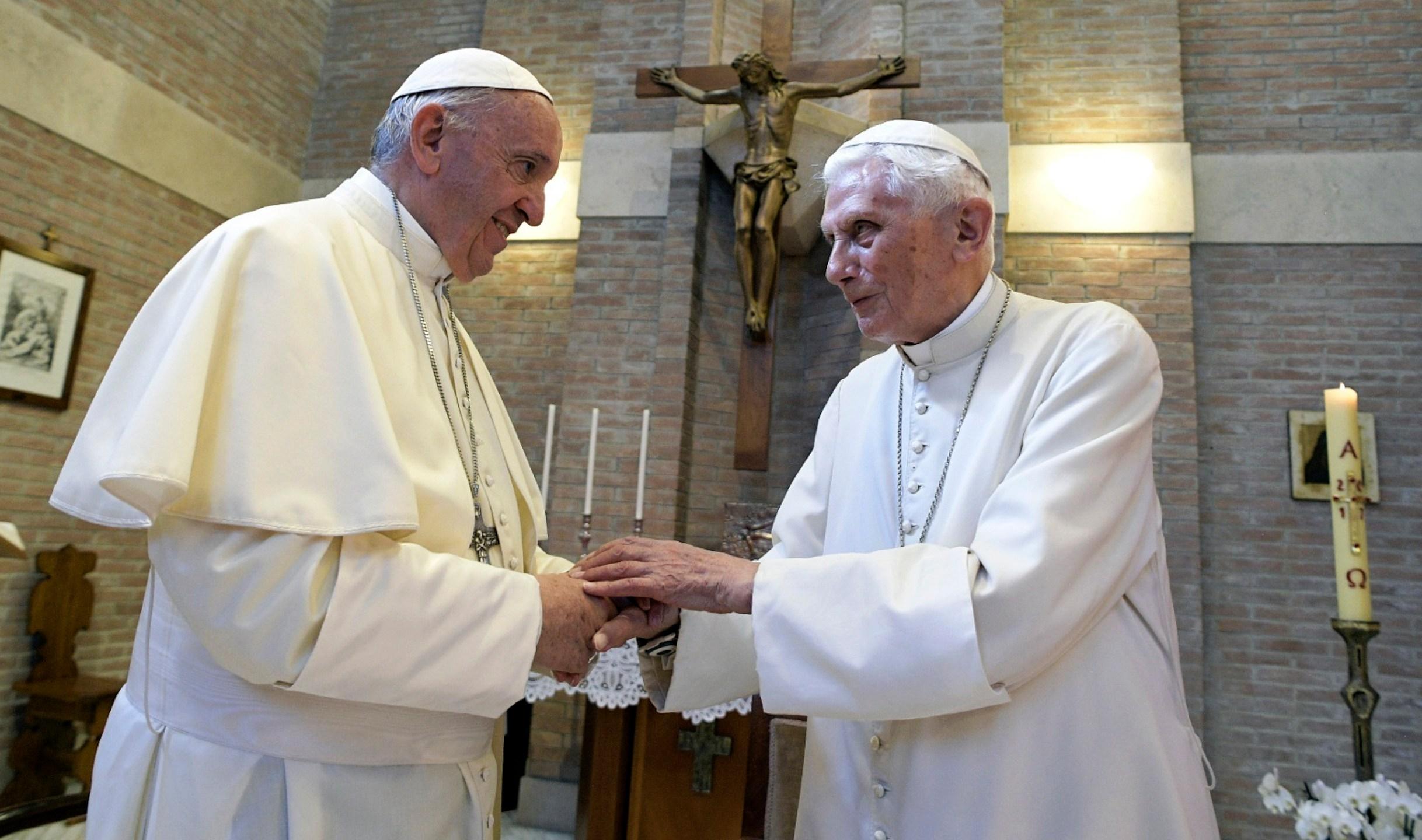 Pope Emeritus Benedict XVI, Pope Francis