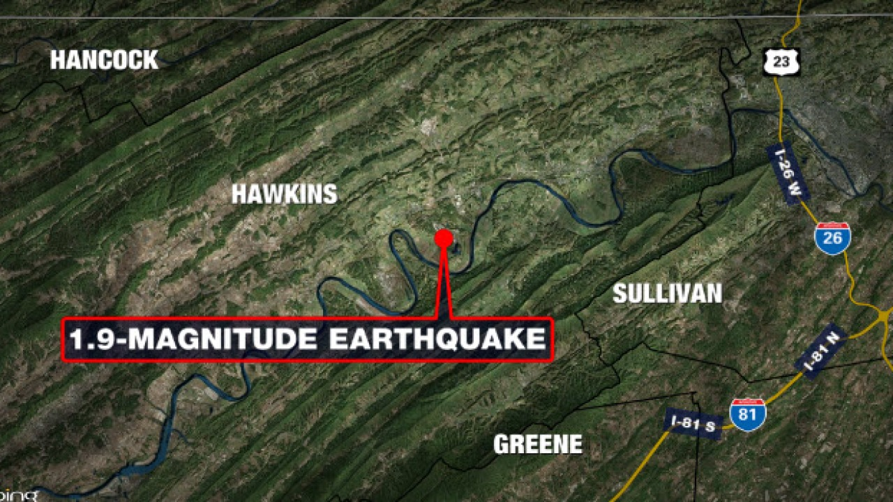 1.9-magnitude earthquake recorded in Hawkins County late Friday | WJHL | Tri-Cities News & Weather