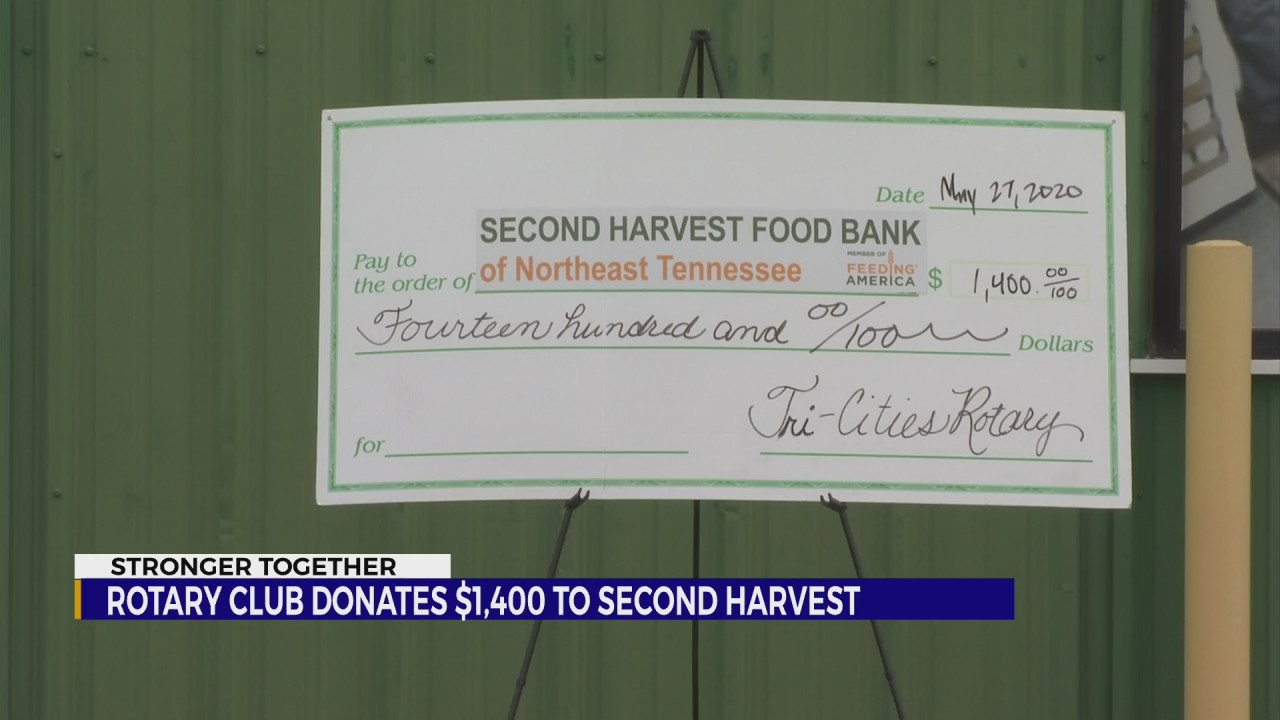 Tri Cities Dodge >> Rotary Club donates $1,400 to Second Harvest for COVID food box project | WJHL | Tri-Cities News ...
