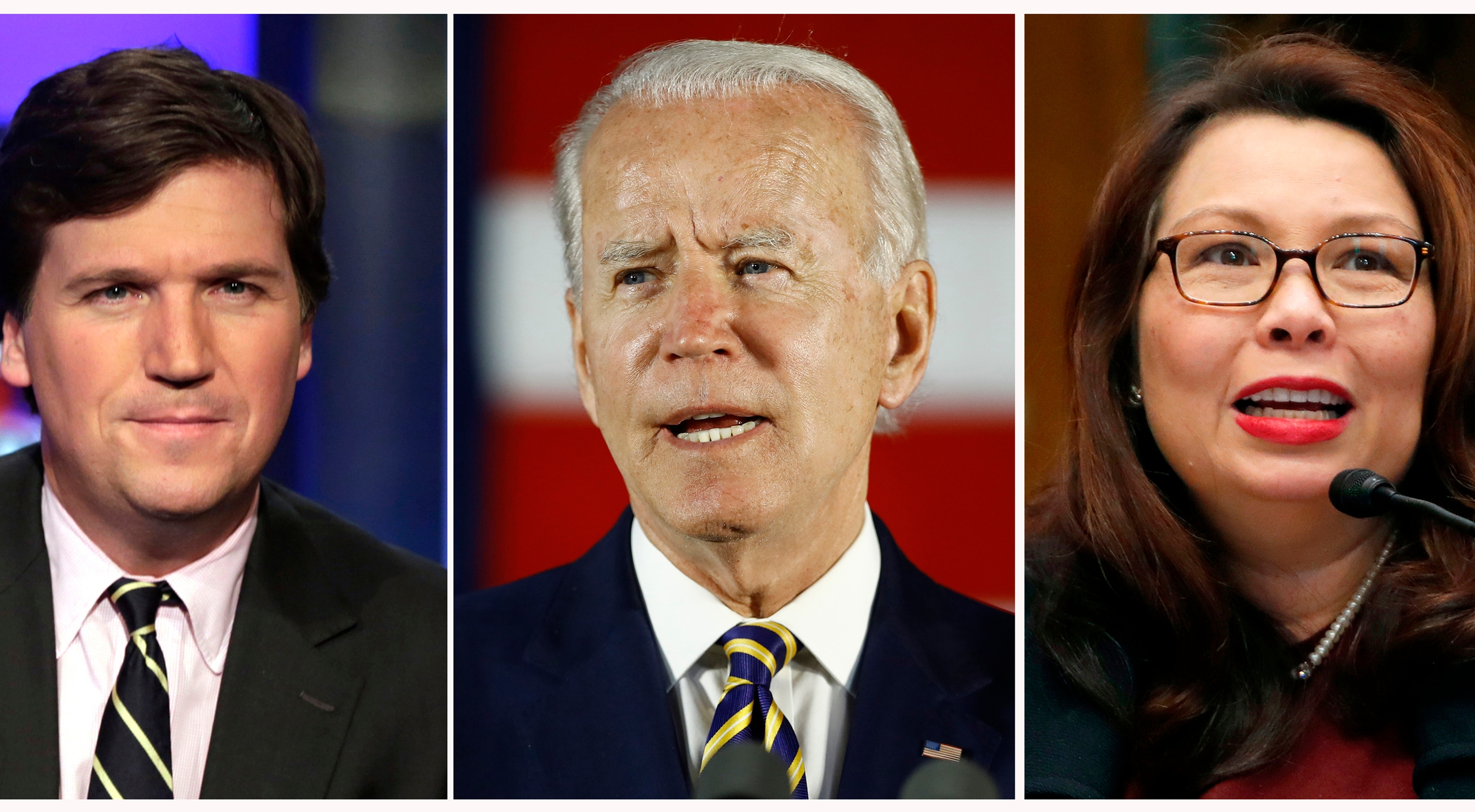 Tucker Carlson, Joe Biden, Tammy Duckworth
