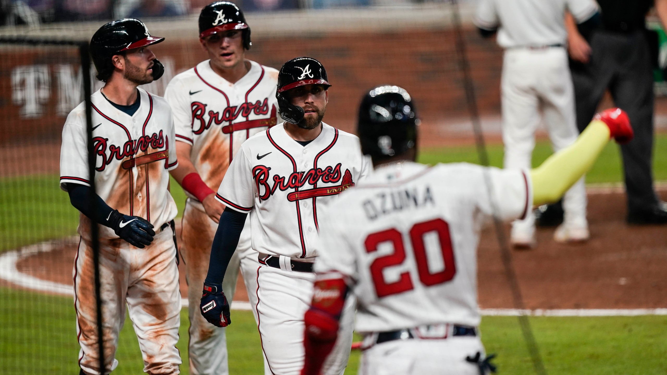 Sean Newcomb, Ender Inciarte, Austin Riley, Ronald Acuna Jr.