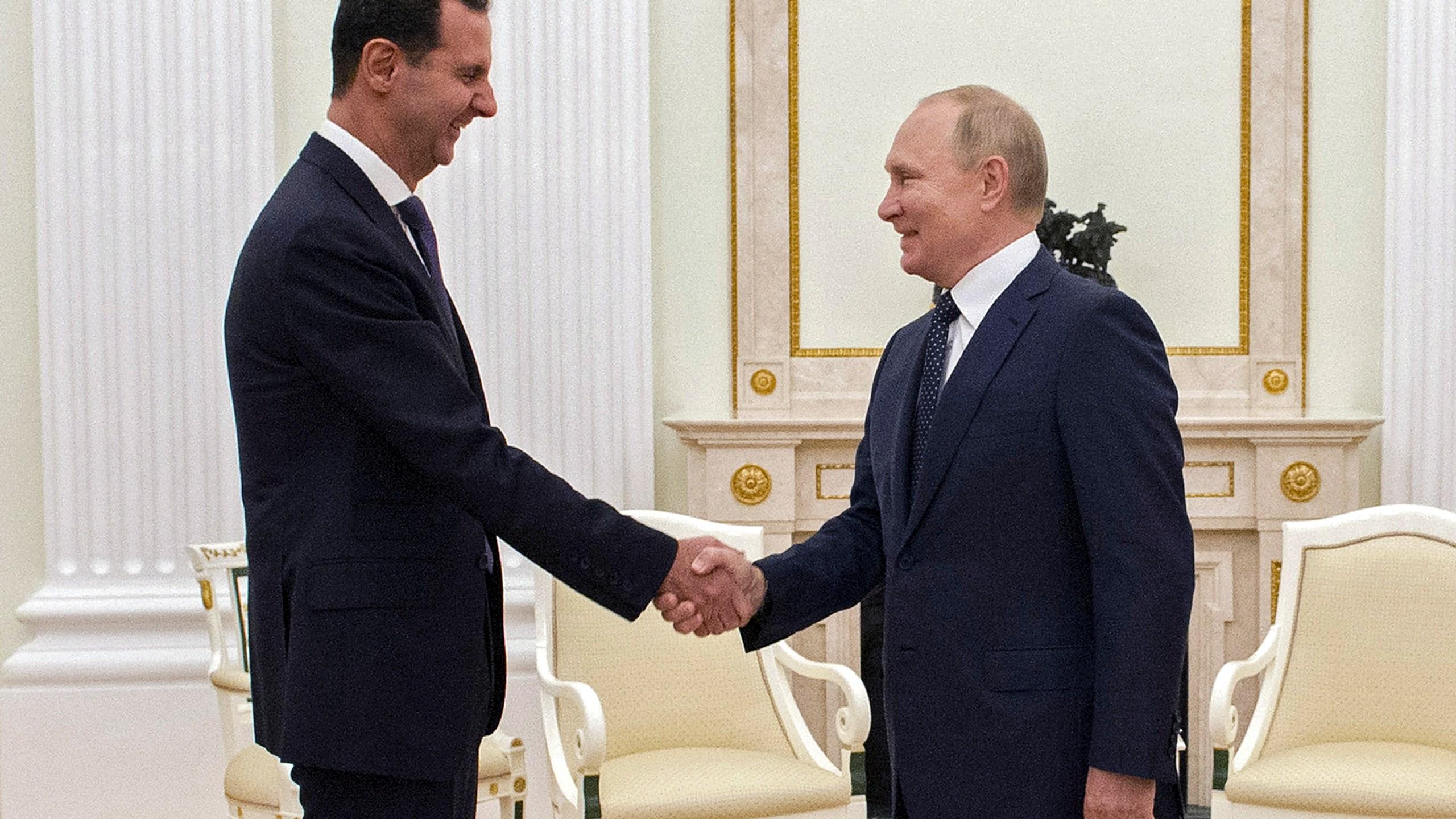 Vladimir Putin, Bashar Assad